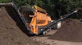 Inname en bewerking van afval en grond